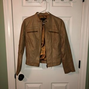 Arden B tan leather jacket
